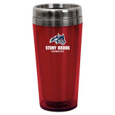 Solano Acrylic Red Tumbler 16oz-Wolfie Head and Stony Brook Seawolves