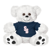 Plush Big Paw 8 1/2 inch White Bear w/Navy Shirt-Interlocking SB