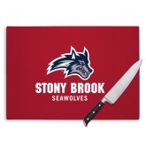 Cutting Board-Wolfie Head and Stony Brook Seawolves