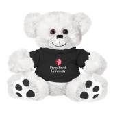 Plush Big Paw 8 1/2 inch White Bear w/Black Shirt-University Mark Vertical
