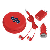3 in 1 Red Audio Travel Kit-Interlocking SB