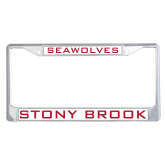 Metal License Plate Frame in Chrome-Seawolves