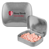 Silver Rectangular Peppermint Tin-University Mark Stacked