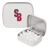 White Rectangular Peppermint Tin-Interlocking SB