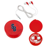 Ear Buds in Red Case-Interlocking SB