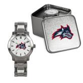 Mens Stainless Steel Fashion Watch-Wolfie Head