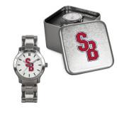 Ladies Stainless Steel Fashion Watch-Interlocking SB