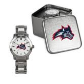 Ladies Stainless Steel Fashion Watch-Wolfie Head