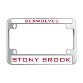 Metal Motorcycle License Plate Frame in Chrome-Seawolves