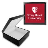 Ebony Black Accessory Box With 6 x 6 Tile-University Mark Vertical