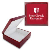 Red Mahogany Accessory Box With 6 x 6 Tile-University Mark Vertical