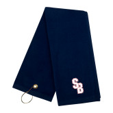 Navy Golf Towel-Interlocking SB