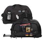 Urban Passage Wheeled Black Duffel-Interlocking SB