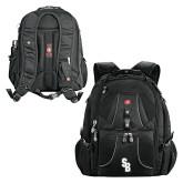 Wenger Swiss Army Mega Black Compu Backpack-Interlocking SB