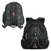 Wenger Swiss Army Mega Black Compu Backpack-University Mark Vertical
