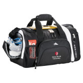 High Sierra Black 22 Inch Garrett Sport Duffel-University Mark Vertical