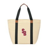 Natural/Black Saratoga Tote-Interlocking SB