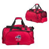 Challenger Team Red Sport Bag-Wolfie Head and Stony Brook