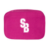 Large Hot Pink Waffle Cosmetic Bag-Interlocking SB