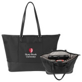 Stella Black Computer Tote-University Mark Vertical