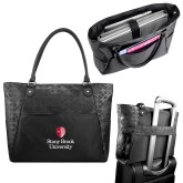 Sophia Checkpoint Friendly Black Compu Tote-University Mark Vertical