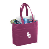 Fine Society Berry Computer Tote-Interlocking SB