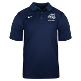 NIKE Heathered Navy Dry Polo Short Sleeve-