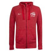 NIKE Ladies Red Gym Vintage Full Zip Hoodie-