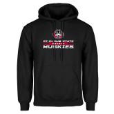 Black Fleece Hoodie-Hockey Stacked Design