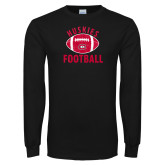 Black Long Sleeve T Shirt-Distressed Football