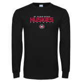 Black Long Sleeve T Shirt-Football Yards Design
