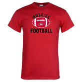 Red T Shirt-Distressed Football