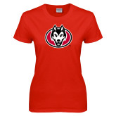 Ladies Red T Shirt-Husky