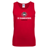 Red Tank Top-Athletic Primary Mark