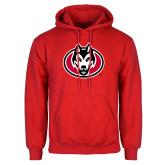 Red Fleece Hoodie-Husky