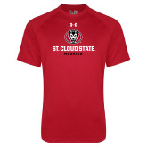 Under Armour Red Tech Tee-Athletic Primary Mark