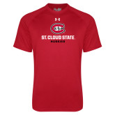 Under Armour Red Tech Tee-St Cloud State Huskies Stacked w/ C