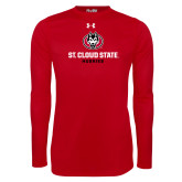 Under Armour Red Long Sleeve Tech Tee-Athletic Primary Mark
