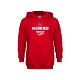Youth Red Fleece Hoodie-Basketball Sharp Net