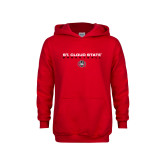 Youth Red Fleece Hoodie-Basketball Wordmark