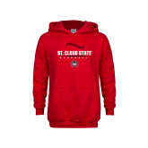 Youth Red Fleece Hoodie-Baseball Seams Design