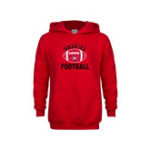 Youth Red Fleece Hoodie-Distressed Football