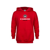 Youth Red Fleece Hoodie-Athletic Primary Mark