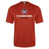Performance Red Heather Contender Tee-Athletic Primary Mark
