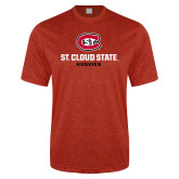 Performance Red Heather Contender Tee-St Cloud State Huskies Stacked w/ C