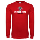Red Long Sleeve T Shirt-Athletic Primary Mark