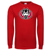 Red Long Sleeve T Shirt-Husky