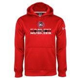 Under Armour Red Performance Sweats Team Hoodie-Hockey Stacked Design