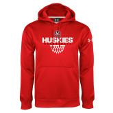 Under Armour Red Performance Sweats Team Hoodie-Basketball Sharp Net
