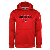 Under Armour Red Performance Sweats Team Hoodie-Football Yards Design